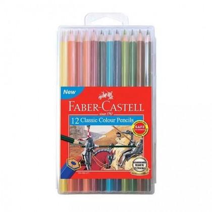 Faber Castell 12 Classic Colour Pencils (Long)