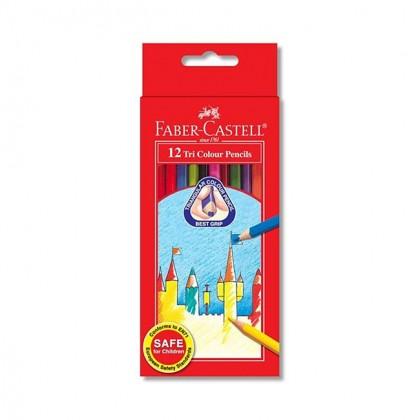Faber Castell 12 Tri Colour Pencils (Long)